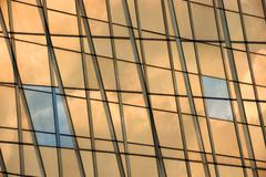 Glass panel facade windows background Stock Photos