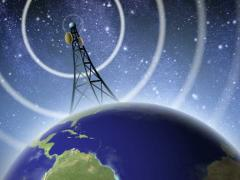 Antenna Broadcasting Signal Stock Footage