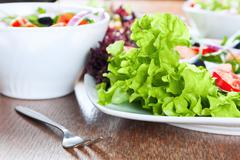 healthy fresh salad - stock photo