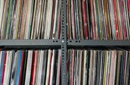 Vinyl records storage Stock Photos