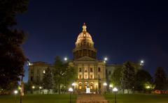 Colorado State Capitol at Night Kuvituskuvat