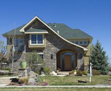 Brick Home - stock photo