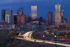 Downtown Denver Rush Hour Kuvituskuvat
