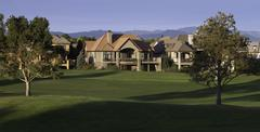 Mansion on Golf Course - stock photo