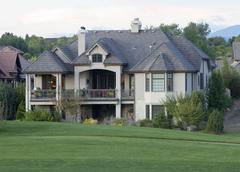 Mansion Backyard - stock photo