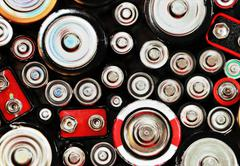 Abstract batteries background Stock Photos