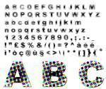 Dots fantasy alphabet Stock Illustration