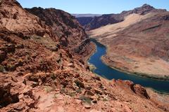 colorado river vista - stock photo