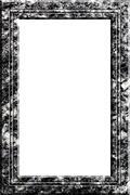 granite portrait frame - stock photo