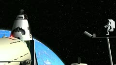 Astronaut space Nasa and ISS station Nasa 3D part8/9 Stock Footage
