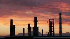 Smoking chimneys - stock footage