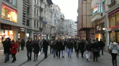 Istiklal CD in Istanbul - stock footage