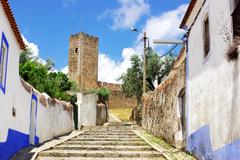Old street of arraiolos village Stock Photos