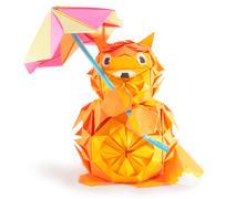 paper fox - stock photo