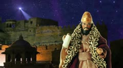 Herod King and the Star of Bethlehem Stock Footage
