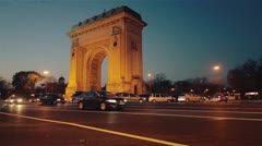 Triumphal arch 3 Stock Footage