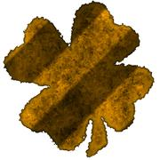 shamrock burnt parchment - stock illustration