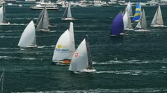 Yachts on sydney harbour Stock Footage