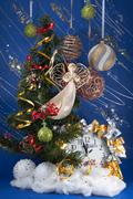 Christmas composition Stock Photos