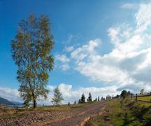 Mountain country road Stock Photos