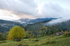 Daybreak in mountain Stock Photos