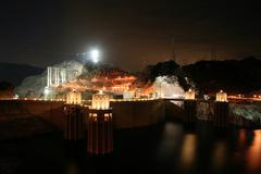 Hooverin pato yöllä Kuvituskuvat
