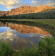mount hayden reflection - stock photo