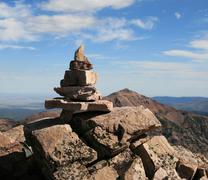 Summit cairn Stock Photos