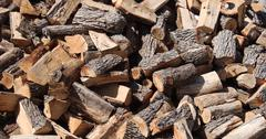 firewood background - stock photo