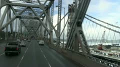San Francisco ,Bay Bridge, tower,new Stock Footage