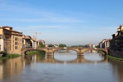 Ponte santa trinita bridge, florence, italy Stock Photos