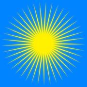 Yellow sun rays Stock Illustration