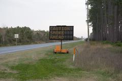 Roadside smoke sign Stock Photos