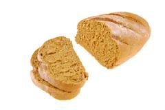 Bread  on isolated Stock Photos