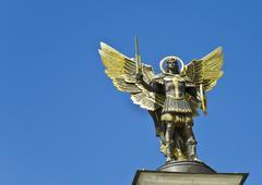 archangel michael - stock photo