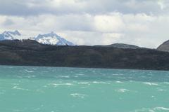 w trek on torres del paine park - stock photo