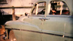 Old 1950s Plymouth Automobile-1958 Vintage 8mm film Stock Footage