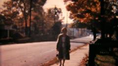 People Walking On Sidewalk-1958 Vintage 8mm film Stock Footage