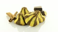 Homemade chocolate cookies Stock Footage