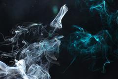 Cyan Smoke1.JPG - stock photo