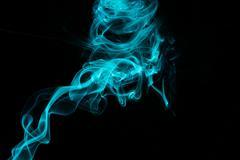 Cyan Smoke 4.JPG - stock photo