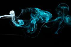 Cyan Smoke7.JPG - stock photo