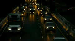 Traffic at Dusk Stock Footage