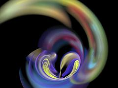 digital fractal - stock illustration