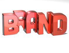 3d word brand on white background Stock Illustration