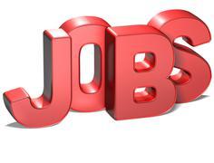 3d word jobs on white background Stock Illustration