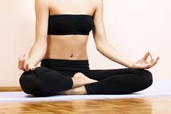 Yoga meditation  - stock photo