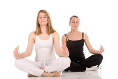 Healthy lifestyle yoga meditation  Stock Photos
