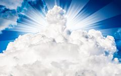 Sun in the clouds Stock Photos