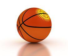 kyrgyz basketball team - stock photo